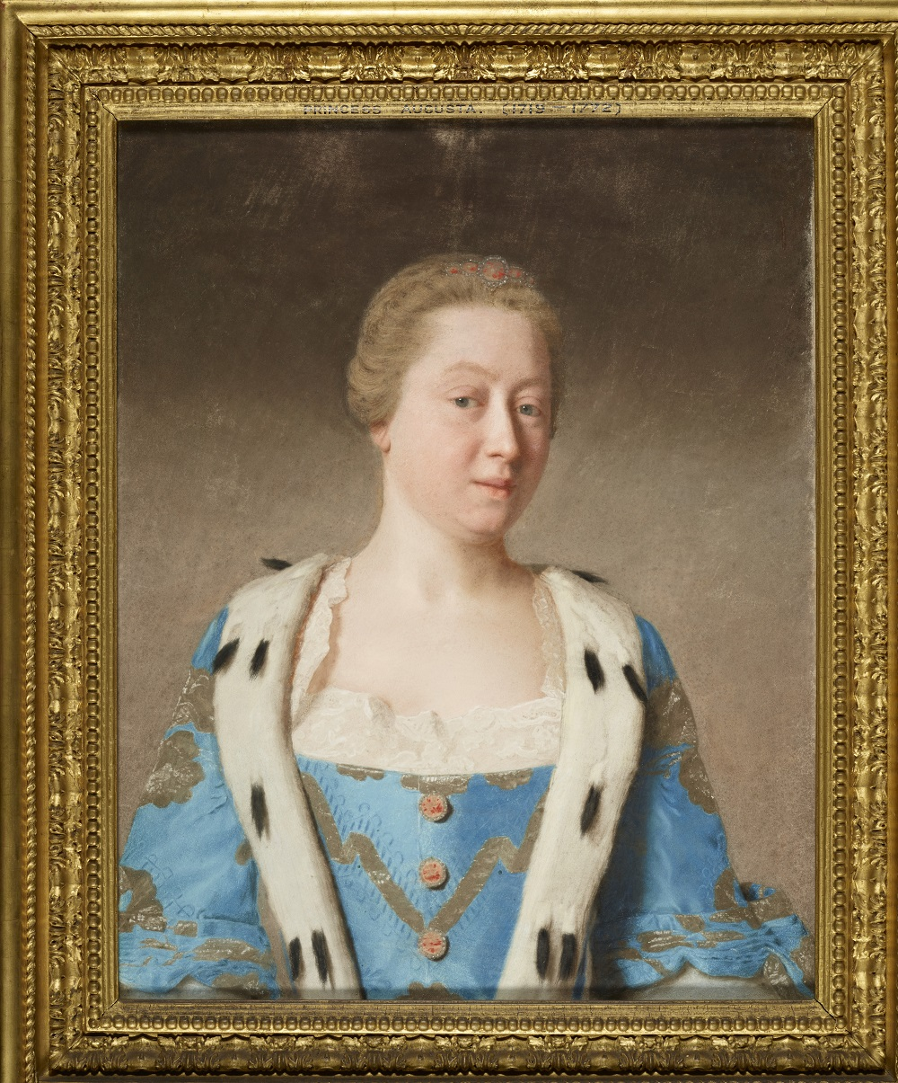 Augusta, Princess of Wales 1754, Jean-Etienne Liotard, Royal Collection Trust  c Her Majesty Queen Elizabeth II 2017
