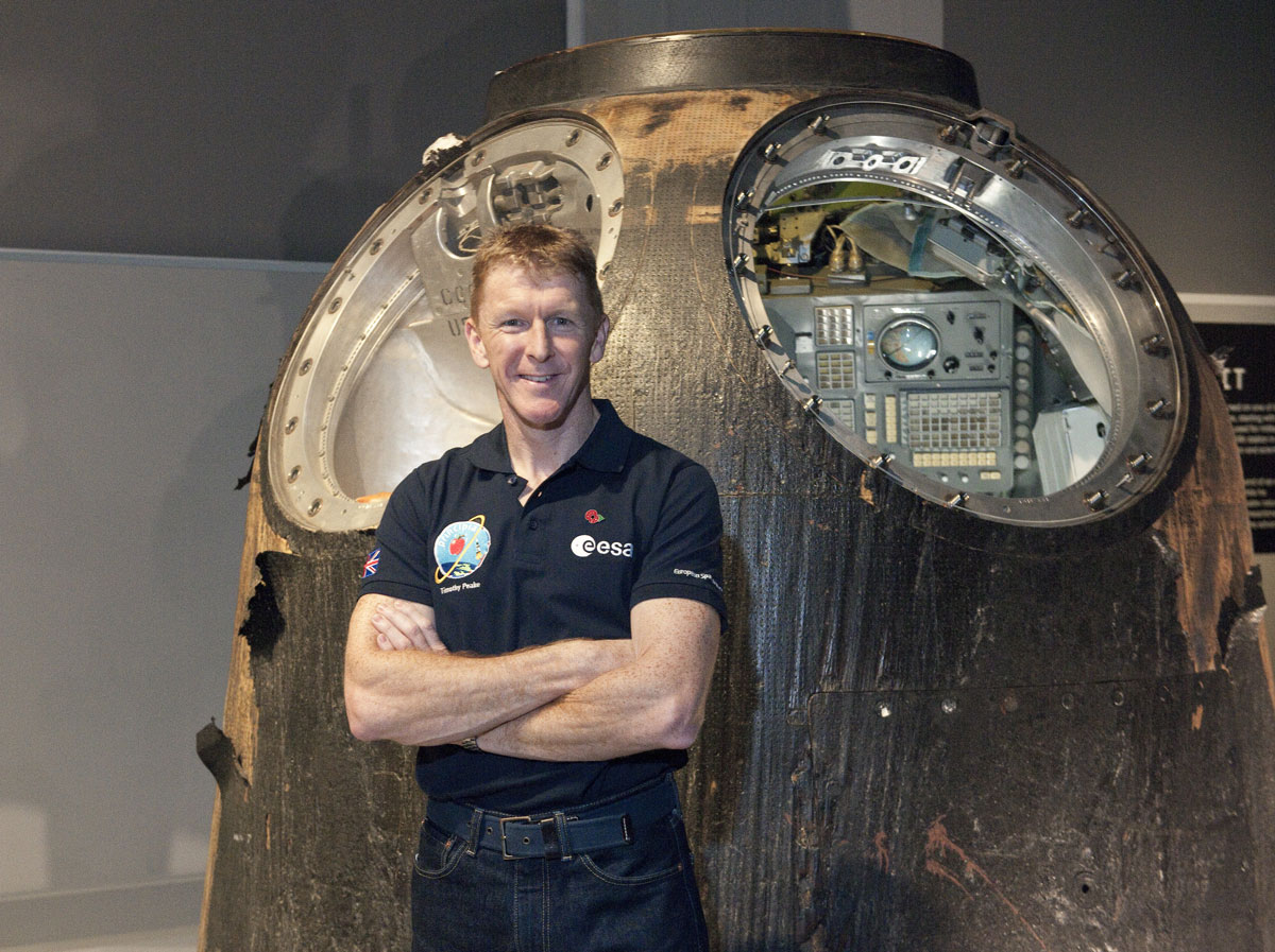 Tim Peake at the Science Museum's Cosmonauts Exhibition