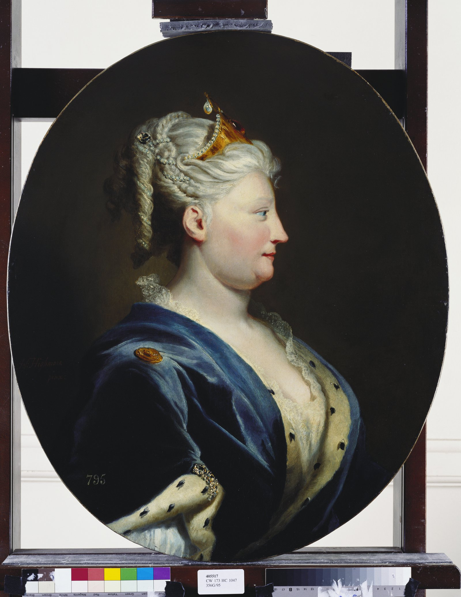Queen Caroline of Ansbach, Joseph Highmore c.1735, Royal Collection Trust  c Her Majesty Queen Elizabeth II 2017