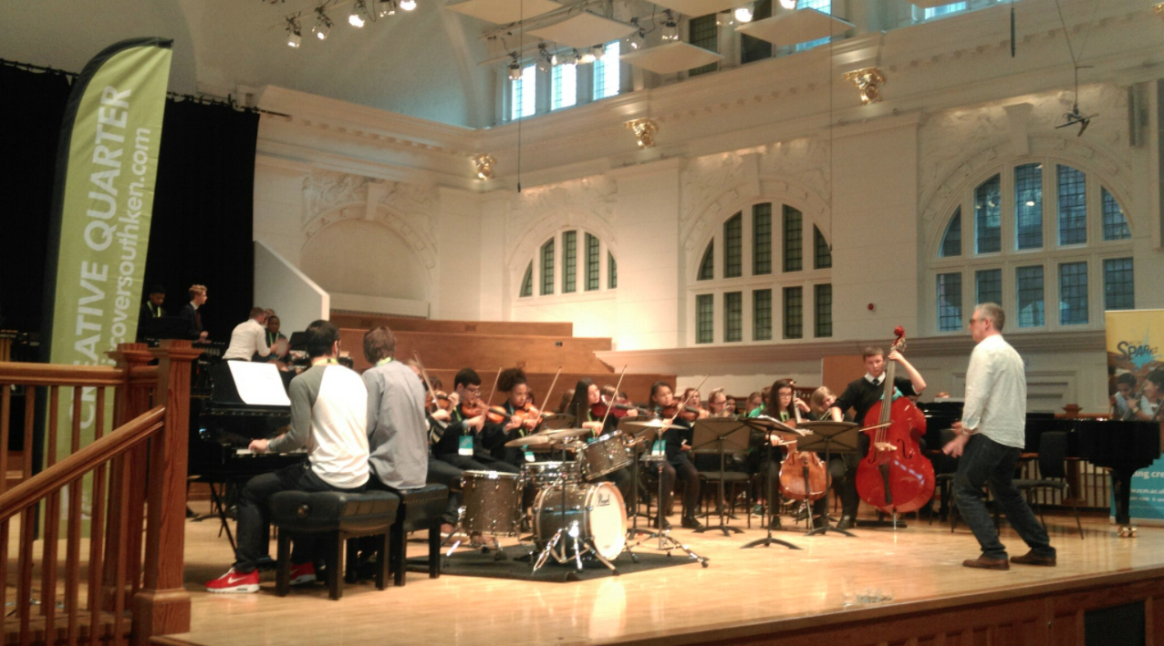 Students enjoy a performance masterclass at the Royal College of Music