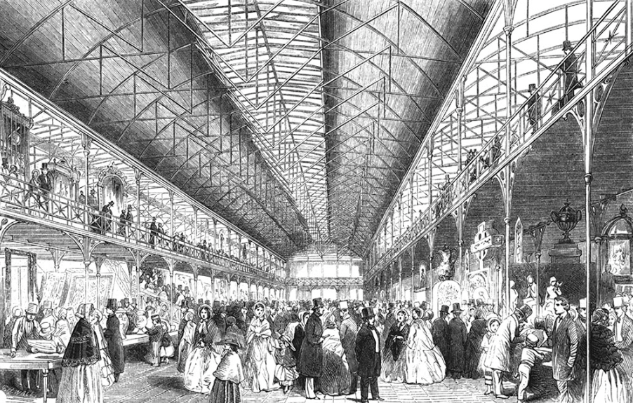Interior of The South Kensington Museum: Opened to The Public on Wednesday last; wood- engraving; from Illustrated Times, 27th June, 1857. Museum no. 131198 NAL. © Victoria and Albert Museum, London.